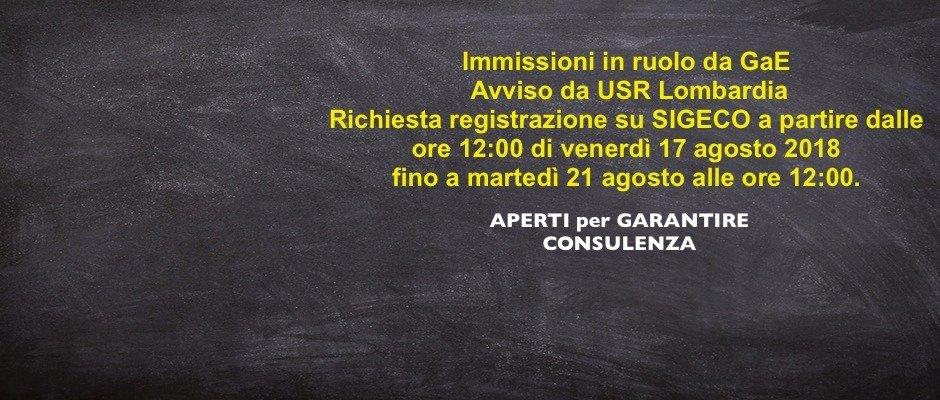 APERTI SETTIMANA di FERRAGOSTO- SAREMO APERTI  A PAVIA DALLE 9,00 ALLE 14,00 - GARANTIAMO LA CONSULENZA PER I CONVOCATI OPERAZIONI IMMISSIONE IN RUOLO. INVITIAMO TUTTI A LEGGERE LE NOTIZIE SUL SITO USR LOMBARDIA!