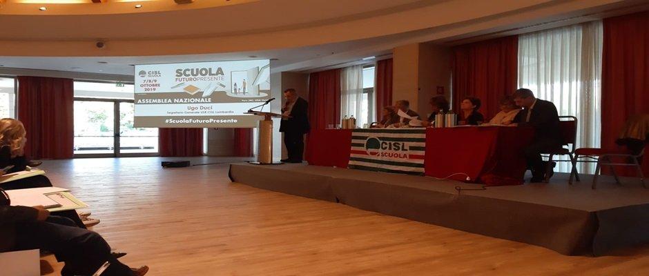 CONCLUSA  A MILANO L'ASSEMBLEA NAZIONALE CISL SCUOLA: una 2 giorni di scambio di opinioni sui temi del reclutamento della sostenibilità.