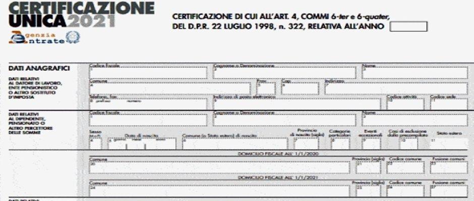 Il MEF ripubblica (per la terza volta!) le Certificazioni Uniche 2021 degli iscritti al Fondo Espero