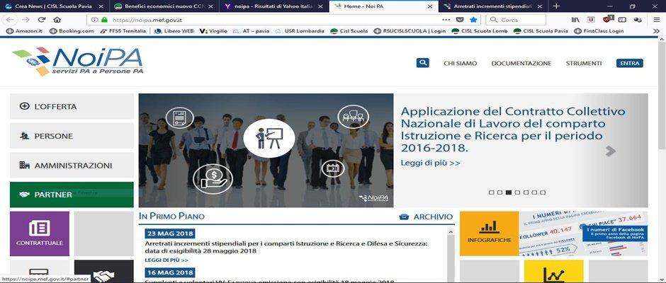 NOI Pa: cedolino di Giugno con aumenti ccnl 2016-18